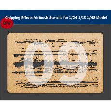 LIANG-0009 Chipping Effects Airbrush Stencils Tool for 1/24 1/35 1/48 Scale Military Tank Aircraft Model Kit