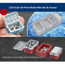LIANG-0414 1/35 Scale 3D-Print Model Mini Bar & Freezer Scene DIY