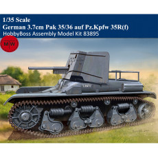 HobbyBoss 83895 1/35 Scale German 3.7cm Pak 35/36 auf Pz.Kpfw 35R(f) Military Plastic Assembly Model Kits