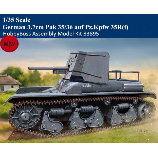 HobbyBoss 83895 1/35 Scale German 3.7cm Pak 35/36 auf Pz.Kpfw 35R(f) Military Plastic Assembly Model Kits