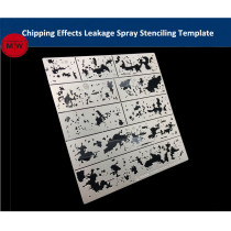Alexen AJ0116 Chipping Effects Leakage Spray Stencil Template Aging Assistant Tools for 1/32 1/35 1/100 Scale Model