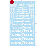 1/12 1/18 1/20 1/24 1/43 Scale Model Decals Goodyear White