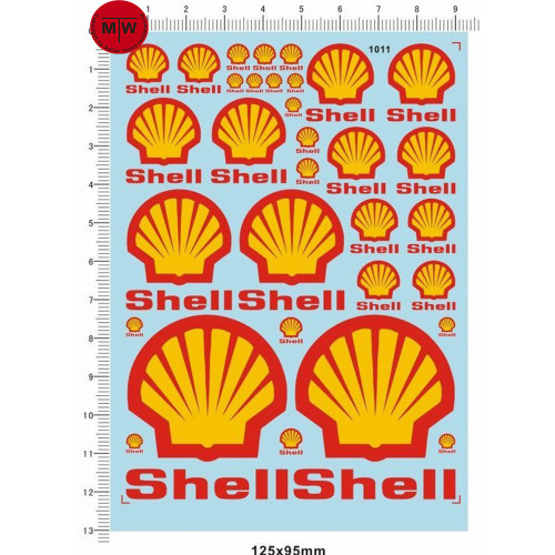 1/18 1/12 1/24 1/20 1/43 Scale Model Decals Shell