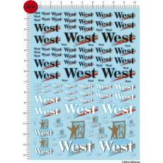 1/18 1/12 1/24 1/20 1/43 Scale Model Decals West