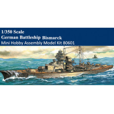 Big Sale Mini Hobby 80601 1/350 Scale German Battleship Bismarck Military Plastic Assembly Model Kits