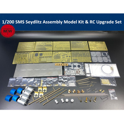 Chuanyu CY514 1/200 Scale SMS Seydlitz Assembly Model Kit & RC Upgrade Set