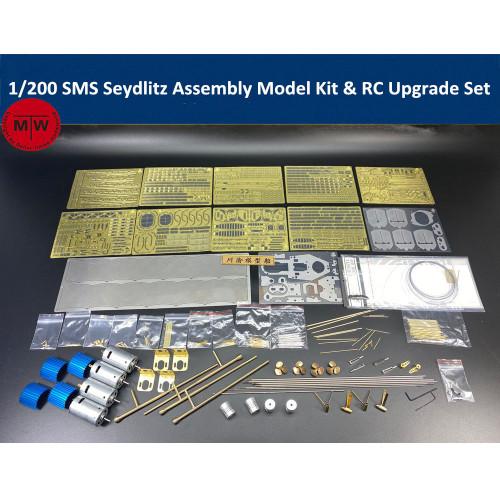 Chuanyu CY514 1/200 Scale SMS Seydlitz Assembly Model Kit & RC Upgrade Set