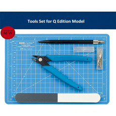 Model Building Tools Set for Q Edition Model Cutting Plier/Hobby Knife/Polishing Stick/Mat TMW00126