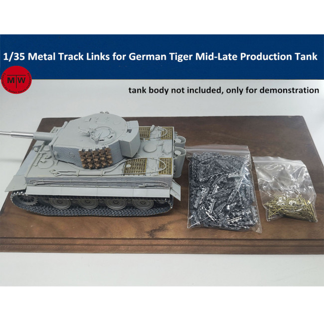 1/35 Scale Metal Track Links for German Tiger Mid-Late Production Tank Model w/metal pin SX35023