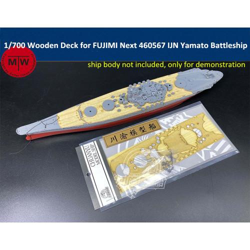 Chuanyu CY700083 1/700 Scale Wooden Deck for FUJIMI Next 460567 IJN Yamato Battleship Model Kit