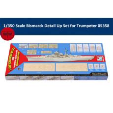 Trumpeter 66601 1/350 Scale Bismarck Detail Up Set for Trumpeter 05358 Ship Model Kit