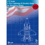 Galaxy D72003 1/72 Scale F-35A Lightning II Die-Cut Flexible Mask for Hasegawa 01572 Airplane Model