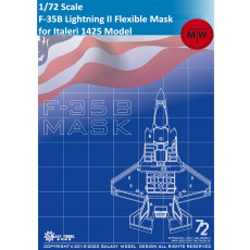 GALAXY D72004 1/72 Scale F-35 B Lightning II Die-Cut Flexible Mask for Italeri 1425 Aircraft Model Kit
