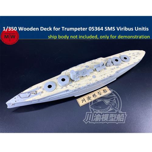 Chuanyu 1/350 Scale Wooden Deck for Trumpeter 05364 SMS Viribus Unitis Battleship Model Kit CY350082