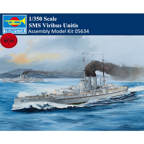 Trumpeter 05364 1/350 Scale SMS Viribus Unitis Military Plastic Assembly Model Kits