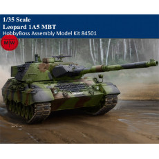 HobbyBoss 84501 1/35 Scale Leopard 1A5 MBT Main Battle Tank Military Plastic Assembly Model Kits