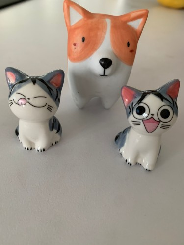 Ceramic Dog Puppy/Cat Kitten Animal Ornament Miniature Cute Home Decoration