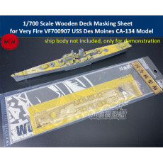 1/700 Scale Wooden Deck Masking Sheet for Very Fire VF700907 USS Des Moines CA-134 Model Ship CY700086
