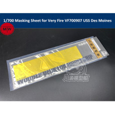 1/700 Scale Masking Sheet for Very Fire VF700907 USS Des Moines CA-134 Model Ship CY700087