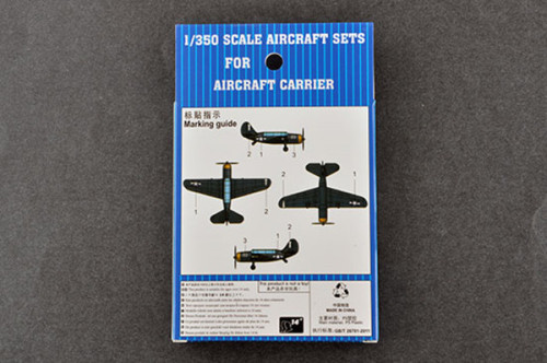 Trumpeter 06407 1/350 Scale SB2C Helldiver Pre-painted Military Plastic Aircraft Model Set for Aircraft Carrier 4pcs/set