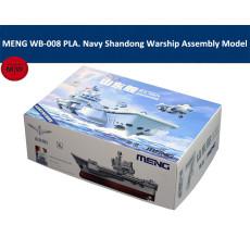 MENG WB-008 PLA. Navy Shandong Warship with Platform Q Edition Plastic Military Assembly Model Kits