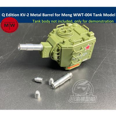 Q Edition KV-2 Metal Barrel Shell Upgrade Kit for Meng WWT-004 Soviet Heavy Tank Model CYD009