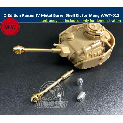 Q Edition Panzer IV Metal Barrel Shell Upgrade Kit for Meng WWT-013 German Medium Tank Model CYD016