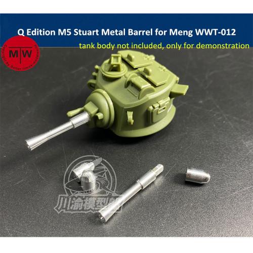 Q Edition M5 Stuart Metal Barrel Shell Upgrade Kit for Meng WWT-012 US Light Tank Model CYD013