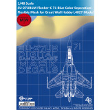 Galaxy D48011 1/48 Scale Sukhoi SU-27UB1M Flanker-C 71 Blue Heavy Fighter Color Separation Flexible Mask for Great Wall Hobby L4827 Model