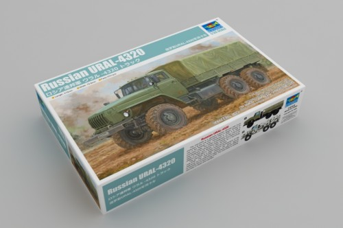 Trumpeter 01072 1/35 Scale Russian URAL-4320 Military Plastic Assembly Model Kits