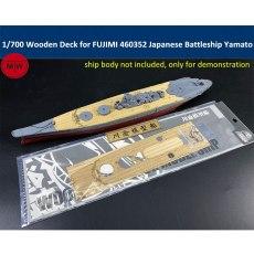 1/700 Scale Wooden Deck for FUJIMI 460352 Japanese Navy Battleship Yamato Model TMW00090