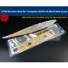 1/700 Scale Wooden Deck for Trumpeter 05702 US Battleship BB-62 New Jersey Model TMW00088