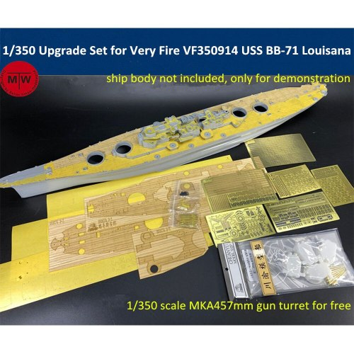 1/350 Scale PE Upgrade Set for Very Fire VF350914 USS BB-71 Louisana Battleship Model TMW00104