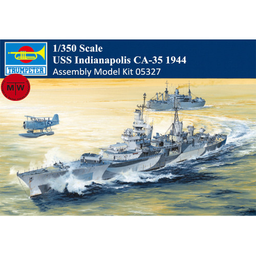 Trumpeter 05327 1/350 Scale USS Indianapolis CA-35 1944 Military Plastic Assembly Model Kit
