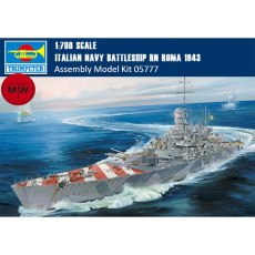 Trumpeter 05777 1/700 Scale Italian Navy Battleship RN Roma 1943 Military Plastic Warship Assembly Model Kit