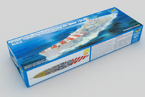 Trumpeter 05777 1/700 Scale Italian Navy Battleship RN Roma 1943 Military Plastic Warship Assembly Model Kit