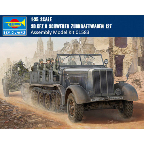 Trumpeter 01583 1/35 Scale Sd.Kfz.8 Schwerer Zugkraftwagen 12t Military Plastic Assembly Model Kits