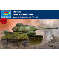 Trumpeter 05588 1/35 Scale Soviet JS-2 Heavy Tank Military Plastic Assembly Model Kits