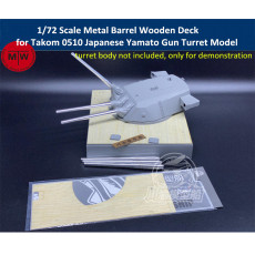 1/72 Scale Metal Barrels Wooden Deck for Takom 0510 Japanese Battleship Yamato Type94 Gun Turret Model CYD024