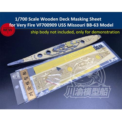 1/700 Scale Wooden Deck Masking Sheet for Very Fire VF700909 USS Missouri BB-63 Battleship Model CY700089