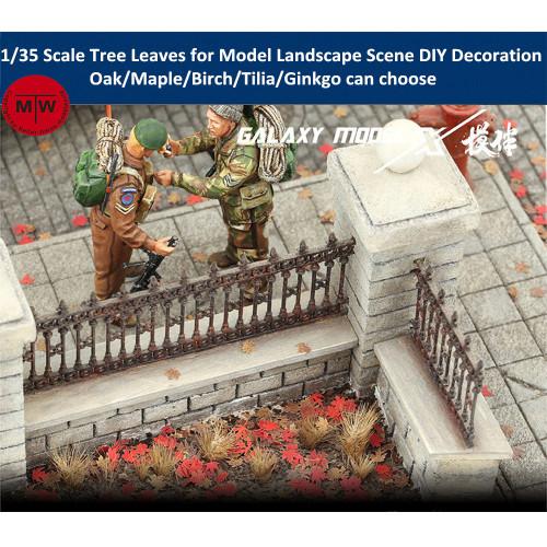 1/35 Scale Model Building Oak/Maple/Birch/Tilia/Ginkgo Tree Leaves Foliage for Model Landscape Scene DIY L35001