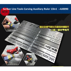 Alexen AJ0090 Scriber Line Tools Carving Auxiliary Ruler for Gundam Model Hobby Craft 13in1