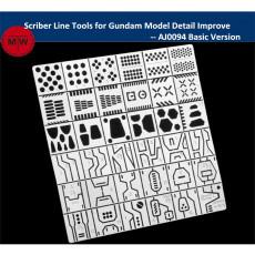Alexen AJ0094/AJ0095 Scriber Line Tools for Gundam Model Craft Detail Improve Basic/Advanced Version