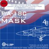Galaxy C48012 1/48 Scale Canopy Wheels Flexible Mask for Kinetic 48031 48073 48088 F/A-18C Model