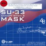 Galaxy C48013 1/48 Scale Canopy Wheels Flexible Mask for Minibase SU-33 Model