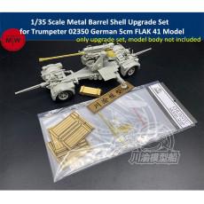 Chuanyu CYT028 1/35 Scale Metal Barrel Bullets Upgrade Set for Trumpeter 02350 German 5cm FLAK 41 Model