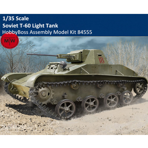 HobbyBoss 84555 1/35 Scale Soviet T-60 Light Tank Military Armor Plastic Assembly Model Kits