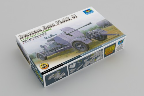 Trumpeter 02350 1/35 Scale German 5cm FLAK 41 Anti-aircraft Gun Military Plastic Assembly Model Kits