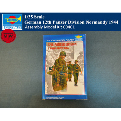 Trumpeter 00401 1/35 Scale German 12th Panzer Division Normandy 1944 Soldier Figures Military Plastic Assembly Model Kits