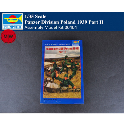 Trumpeter 00404 1/35 Scale Panzer Division Poland 1939 Part II Soldier Figures Military Plastic Assembly Model Kits